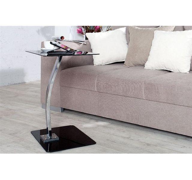 CHLOE DESIGN Table d'appoint design Torra - noir