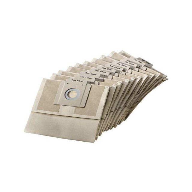Karcher Lot de 10 sacs papiers pour aspirateurs Bv5/1 - 69044030