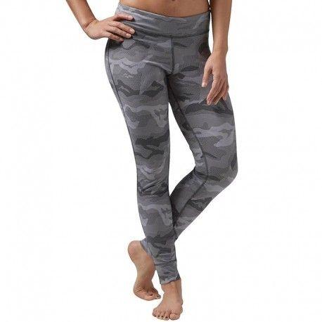 Reebok - Legging Nylux Sport Gris Femme - pas cher Achat   Vente Pantalon  femme - RueDuCommerce 94bff644864