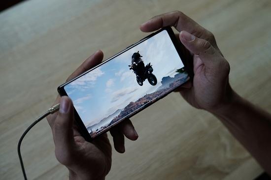 Jeu de moto sur mobile