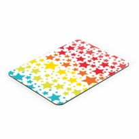 Pebbly - Planche à découper multifonction 30x40cm en verre multicolore Stars