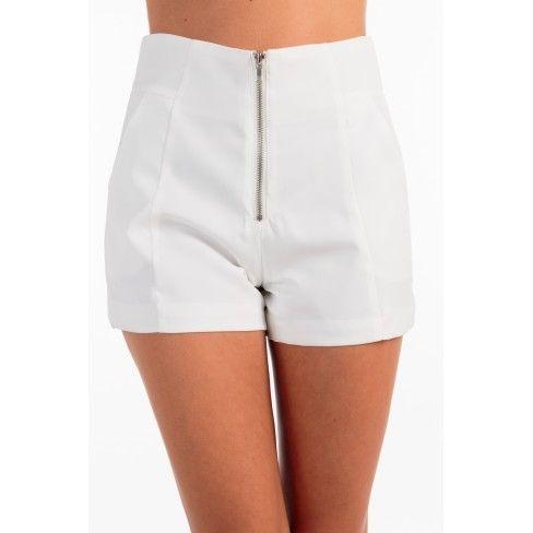 Princesse Boutique - Short Blanc Taille Haute