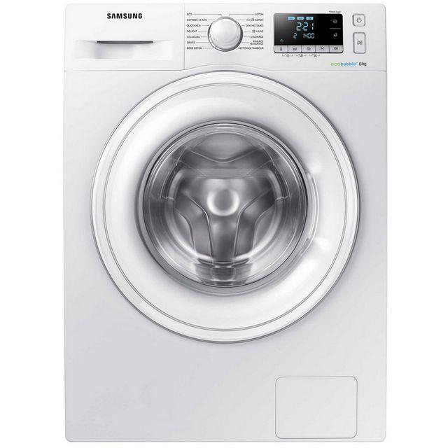 Samsung lave-linge frontal 60cm 8kg 1400t a+++ blanc - ww80j5556dw
