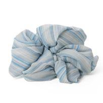 Vanchi - Darcy Mousseline Pure Bleu/BLANC Grande Taille