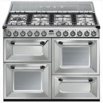 SMEG - cuisinière mixte a 63l 7 feux inox - tr4110x