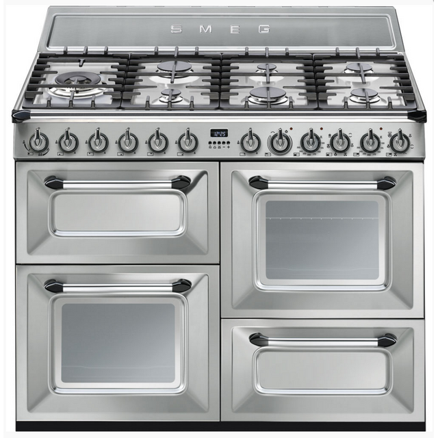 smeg cuisini re mixte a 63l 7 feux inox tr4110x achat vente cuisini re mixte pas cher. Black Bedroom Furniture Sets. Home Design Ideas