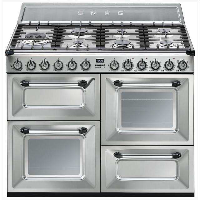 SMEG cuisinière mixte a 63l 7 feux inox - tr4110x