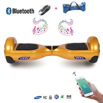 COOL AND FUN - COOL&FUN Hoverboard full option Batterie Samsung Enseigne Bleutooth, Scooter électrique Auto-équilibrage,gyropode 6,5 pouces Doré