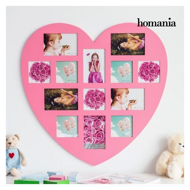 marque generique cadre photo mural en forme de coeur rose 13 photos pele - Pele Mele Photo Coeur