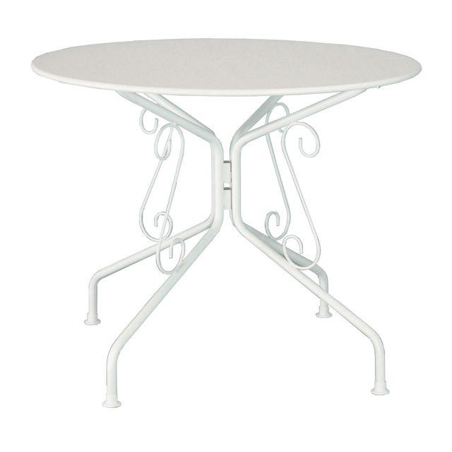 CARREFOUR - Table de jardin ronde romantique - Graphite - pas cher ...