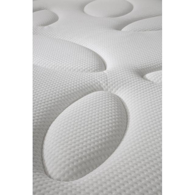 SIMMONS - Ensemble Matelas ressorts ensachés garnissage mémoire de forme Paris + Sommier tapissier Blanc