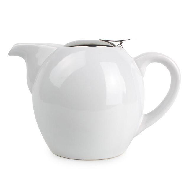 Yong Théière en céramique 1.3 litres Camelia Blanc - Blanc