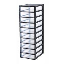 SUNDIS - ORGAMIX - Tour de rangement - 10 tiroirs - Noir - A4 - 4532001