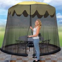 Astuceo - Moustiquaire pour parasol de table