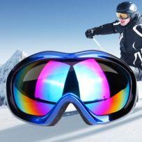 ce5d4351e05c4 Masque bleu et noir Unisexe Anti-brouillard Windprooof Protection Uv  Lunettes sphériques avec sangle réglable