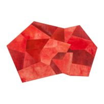 Karedesign - Tapis Asymmetric rouge 240x170cm Kare Design
