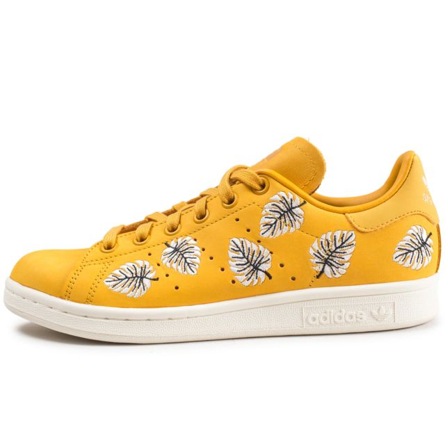 Adidas Originals STAN SMITH W Baskets Basses Jaune pas cher