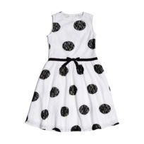 Guess - Robe à pois Fille Blanche