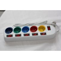 Esperanza - Power Strip / 5 Sockets / Switch / SÉCURITÉ / C Ble De 1,5 M / ColorÉ Elk101 - 5901299913802