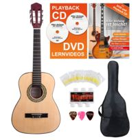 Classic Cantabile - Acoustic Series As-851-L guitare de concert 1/2 pour gauchers Starter-SET