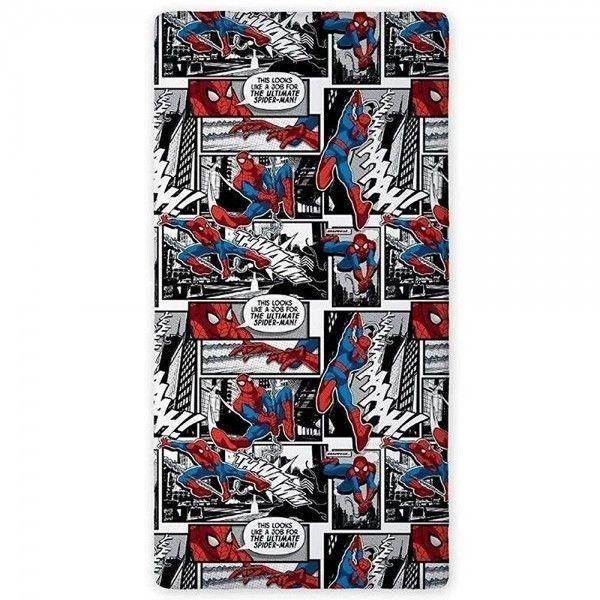 Spiderman   Drap housse Black Marvel   pas cher Achat / Vente