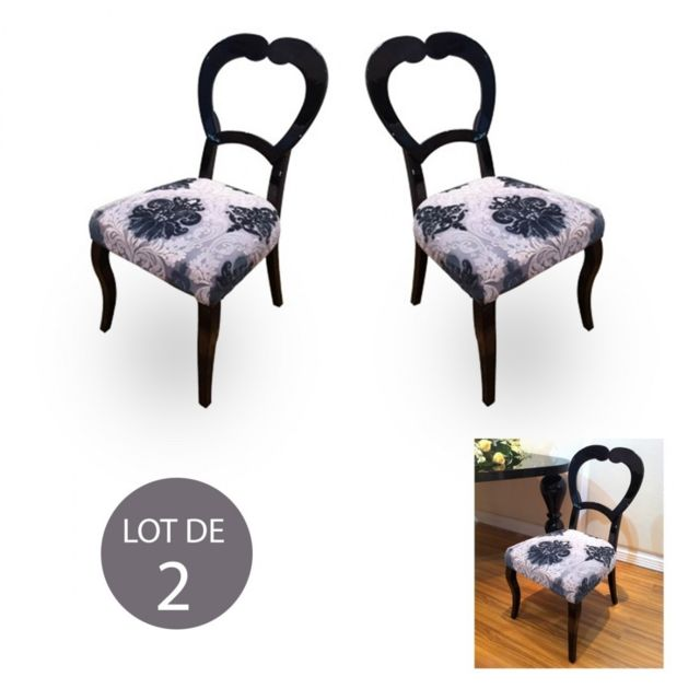 Meubler Design Lot de 2 chaises SimpliLove