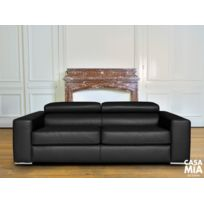 Casamiadesign - Canapé haut de gamme Gabucci - 100 % cuir épais - Garantie 5 ans