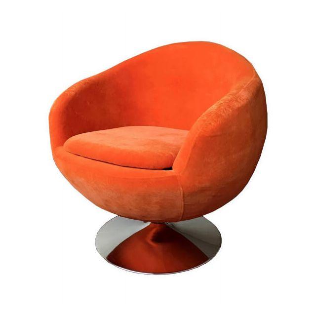 Mathi Design Ball - Fauteuil design en tissu orange