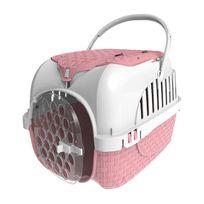 Bama Pets - Caisse de transport avec rangement - rose
