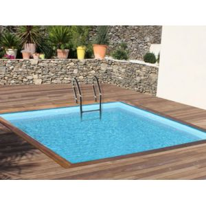 sunbay piscine bois carra 3 00 m x 3 00 m x h 1 19 m pas cher achat vente piscines bois. Black Bedroom Furniture Sets. Home Design Ideas