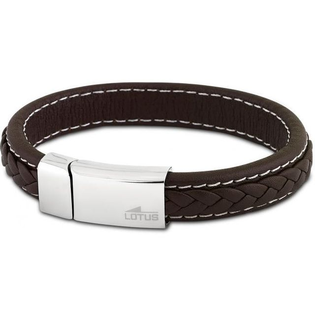 design intemporel 6c47f d208b Lotus - Bracelet Men Basic Ls1741-2-1 - Bracelet Acier Cuir ...