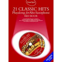 Music Sales - Guest Spot - 21 Classic Hits - Red Book + 2 Cd - Saxophone Alto