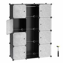 Armoire Penderie Cubes étagère De Rangement Modulables Plastiques Lpc30b