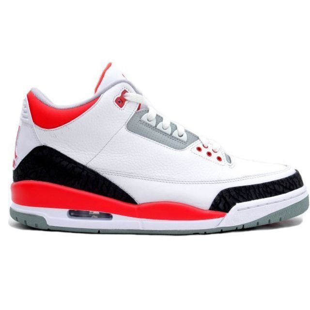 Nike - Basket Air Jordan Retro 3 GS, Blanc 398614-120-39 -