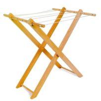 Legler - Jouet en bois Etendoir à linge en bois pour jouer à la poupée