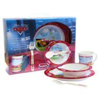 Cars - Ensemble repas pour enfants - Spécial micro-ondes - 5 pièces - Couverts, tasse, bol et assiette