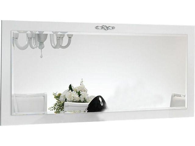 Comforium Miroir mural rectangulaire 180x80 cm coloris blanc laqué
