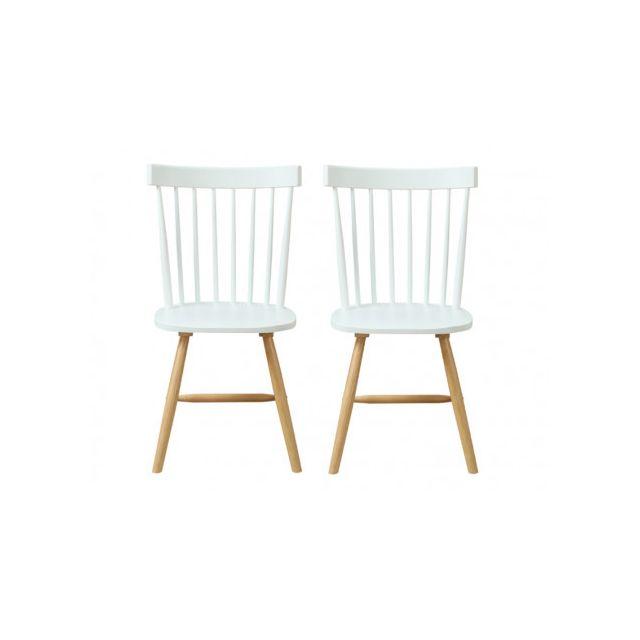 MARQUE GENERIQUE Lot de 2 chaises scandinaves ELVINE