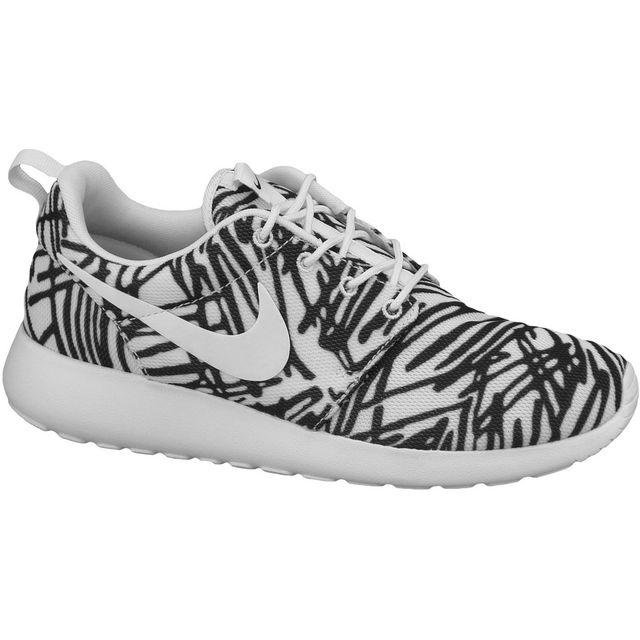 huge discount 7f839 f2c55 Nike - Nike Roshe One Print Wmns 599432-110 Femme Baskets Blanc