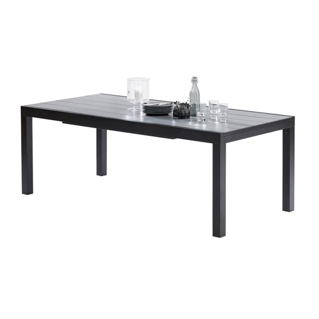 Wilsa Table Hpl Star Hpl Noir T8/12 Tables & Ensembles White Star Hpl