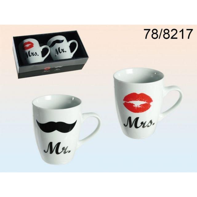 Mramp; Coffret De Tasses 2 Mugs Mrs eEbIY2WDH9
