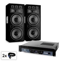 "ELECTRONIC STAR - PA Set Saphir Series ""Warm Up Party TX215"" enceintes ampli"