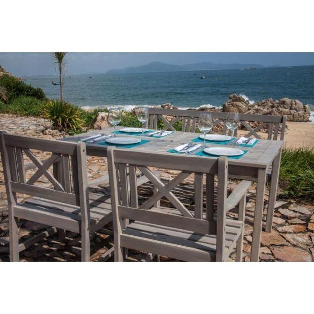 Finlandek - Plein Air - Finlandek Ensemble table de jardin + 2 ...
