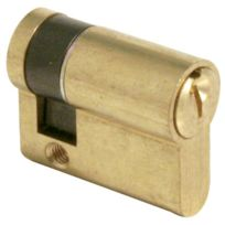 Tesa Securite France - Cylindre De Serrure Te.5 Tesa - Coloris Laiton Varie - Type:1/2 cyl Dim. mm:10 x 30
