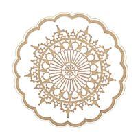 Az boutique - Dessous de verre barroque en papier tissu 9 plis Ø 9cm - Lot de 250 - Dessous de verre