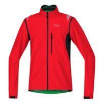Gore - Veste Bike Element Windstopper Active Shell Zip-Off rouge noir