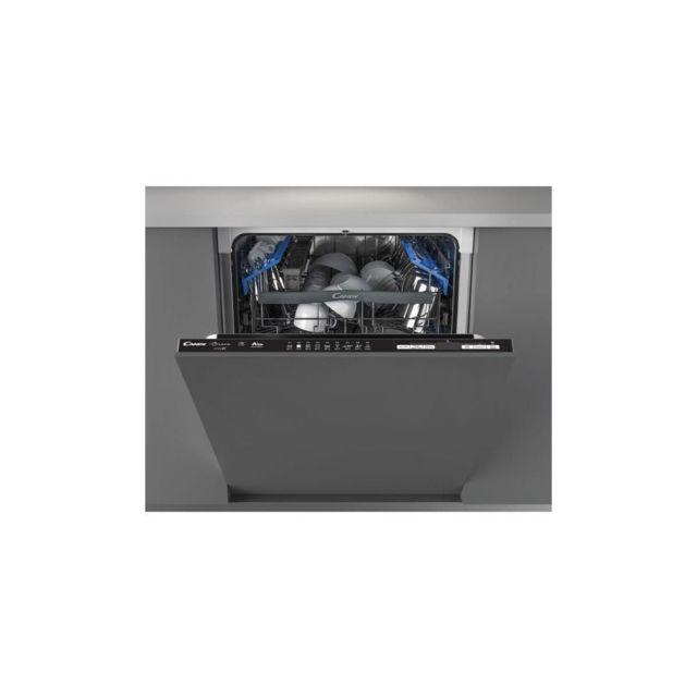 Candy Cdimn 1d530pb - Lave Vaisselle Intégrable - 15 Couverts - 44 Db - A+ - L60cm - Bandeau Noir