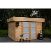 Dedans Dehors - Abri de jardin bois toit plat Odense