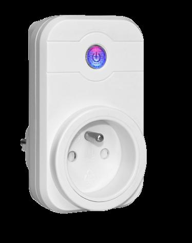 Prise pilotée Wifi compatible Google Home et Amazon Alexa