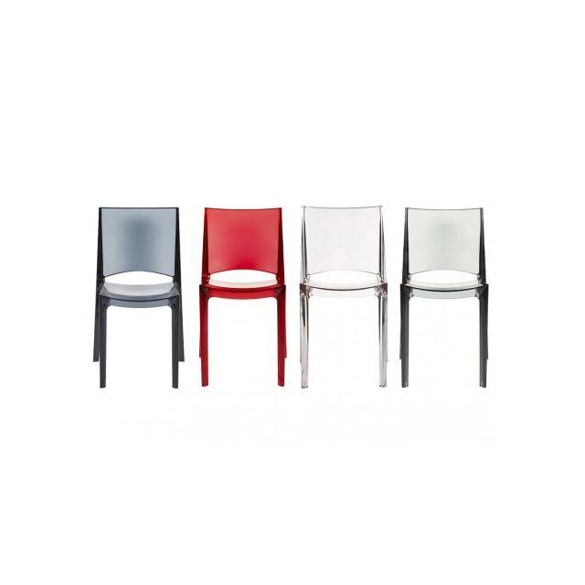 Vente unique Lot de 6 chaises empilables Helly
